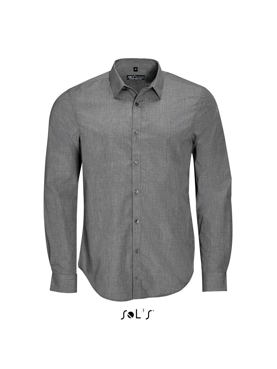 Barnet Men Long Sleeve Heather Poplin Shirtcamasa-barbati-maneca-lunga-barnet-1614.jpg