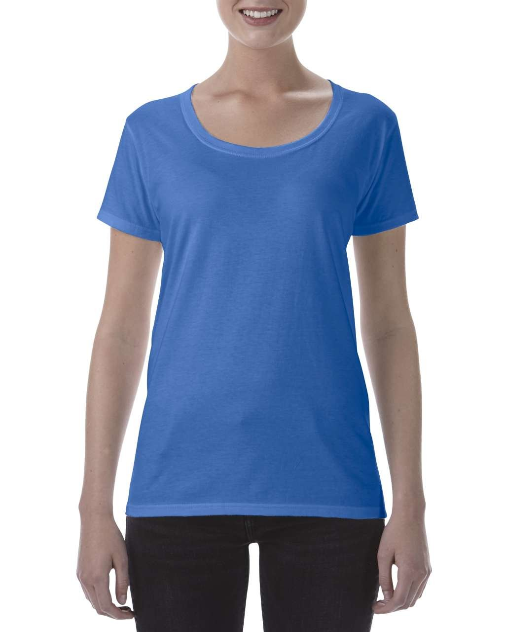 Tricou dama softstyle Deep Scoop